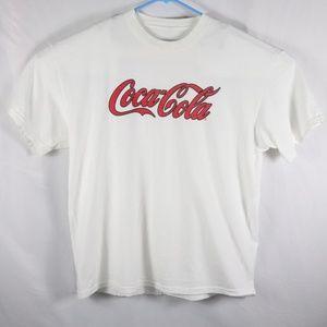 Coca Cola White Cotton Tee XL